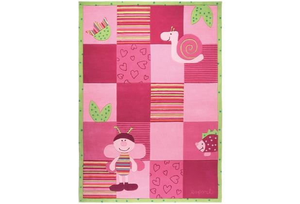 Kostenloser Versand Großbritannien Outlet-Verkauf ESPRIT Kinder-Teppich, Bee ESP-2844-01 rosa/pink, Öko-Tex 100 zertifiziert