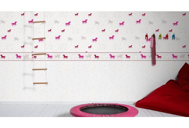 Esprit Kids Vliestapete Lucky Love Tapete Grau Rosa Rot
