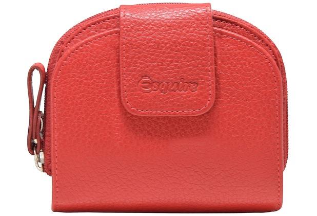 2daf1a7f144f52 Esquire Primavera Geldbörse Leder 11 cm rot | Hertie.de