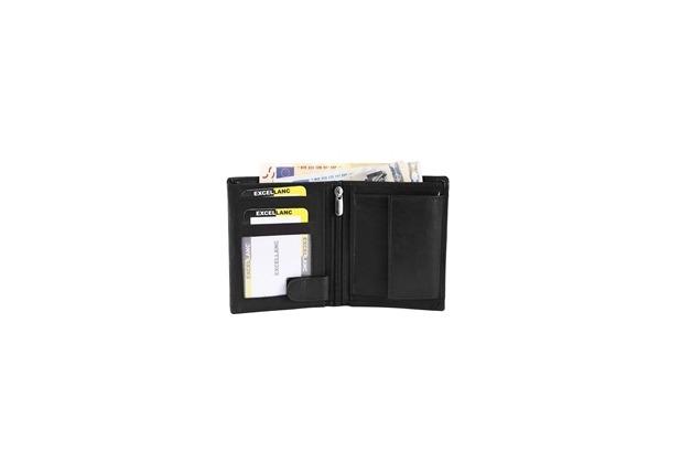 Excellanc Herren Geldbörse aus Echtleder. Format 9 x 11 cm