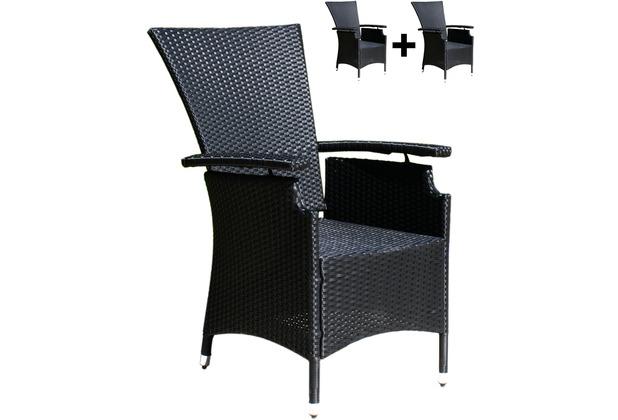 famous home 2 rattan gartensessel verstellbar schwarz polyrattan hochlehner rattansessel schwarz. Black Bedroom Furniture Sets. Home Design Ideas