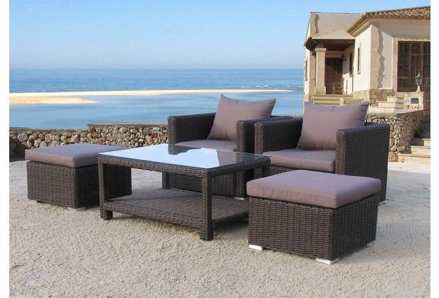 Famous Home Poly Rattan Sitzgruppe 12tlg Lounge Möbel Garten Möbel Pepe  Braun Braun