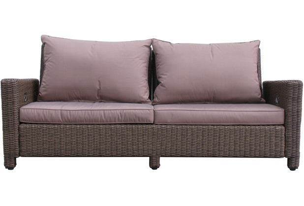 Stupendous Famous Home Rattan Lounge Sofa 200Cm Couch Futon Couchgarnitur Braun Braun Interior Design Ideas Greaswefileorg