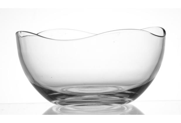 flirt by r b schale glas 26x26x13cm konisch wave klar. Black Bedroom Furniture Sets. Home Design Ideas