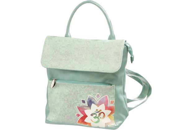 Goebel Blume des Lebens Weiß Handtasche Lotus Yin Yang schwarz-weiß Textil