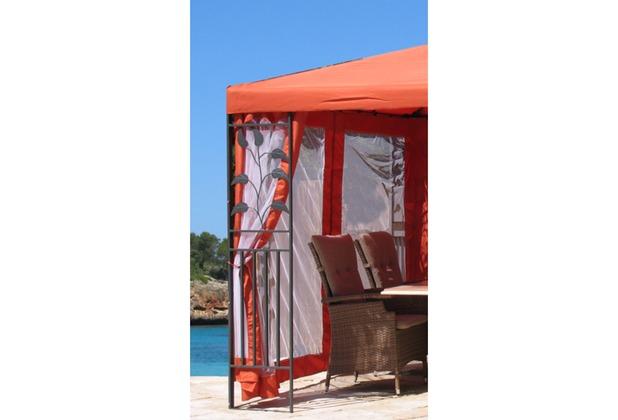 grasekamp 4 seitenteile zu bl tter pavillon 3x4m terra terrakotta. Black Bedroom Furniture Sets. Home Design Ideas