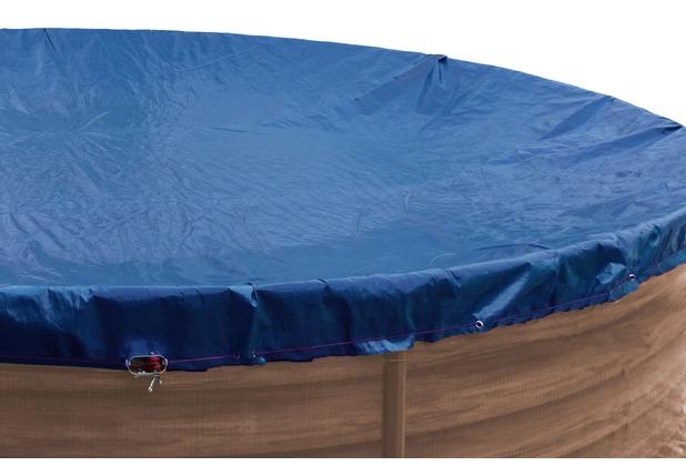 grasekamp abdeckplane f r pool rund 350 360cm royalblau planenma 420cm sommer winter blau. Black Bedroom Furniture Sets. Home Design Ideas