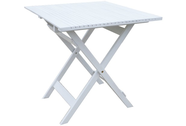 Klapptisch Beistelltisch.Grasekamp Balkontisch Toskana 70 X 70 Cm Weiß Klapptisch Beistelltisch Gartentisch Weiß
