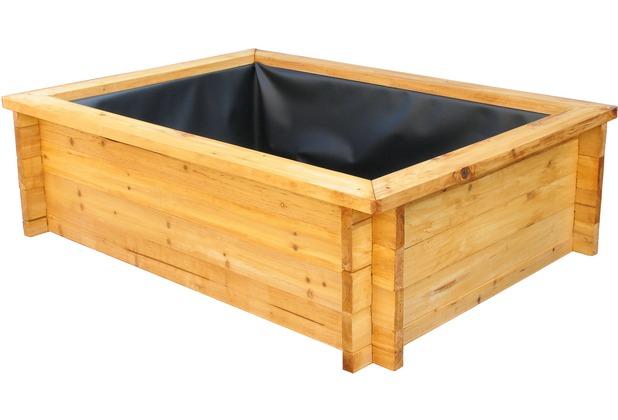grasekamp gartenteich hochteich 140x100cm mit teichfolie natur. Black Bedroom Furniture Sets. Home Design Ideas