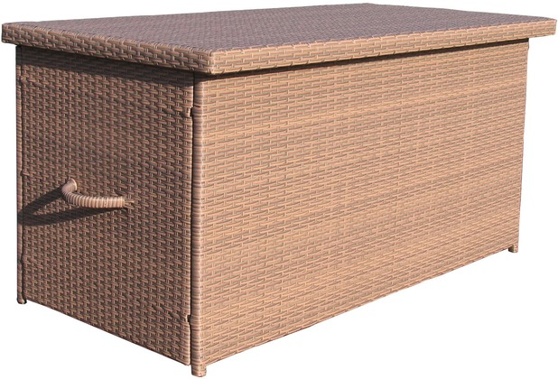 grasekamp rattan kissenbox xxl auflagenbox gartenbox truhe lounge braun braun. Black Bedroom Furniture Sets. Home Design Ideas