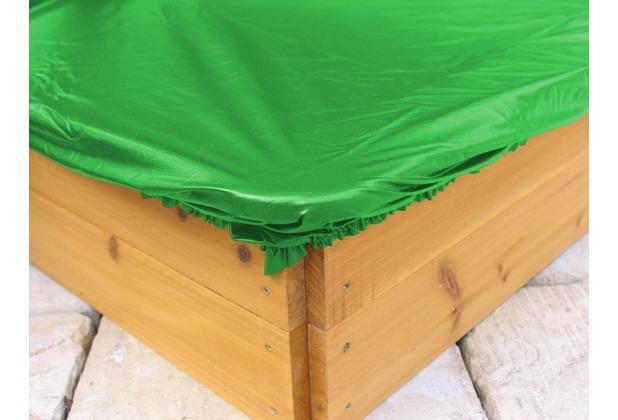 grasekamp sandkastenabdeckung plane f r sandkasten eckig 110 130cm pe gr n gr n. Black Bedroom Furniture Sets. Home Design Ideas