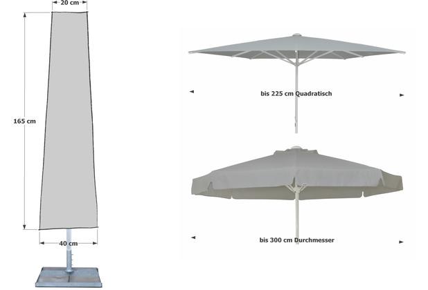 Schutzhülle für Sonnenschirm Landhausschirm Abdeckung Schutzhaube Hülle Ø200
