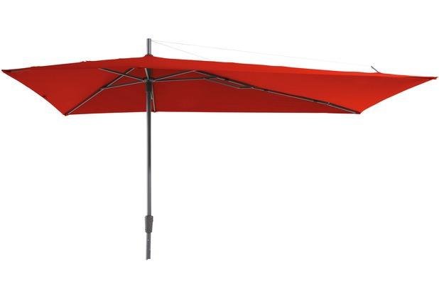 Berühmt Grasekamp Sonnenschirm Asymmetrisch Balkon-Schirm 360x220cm Rot CR44