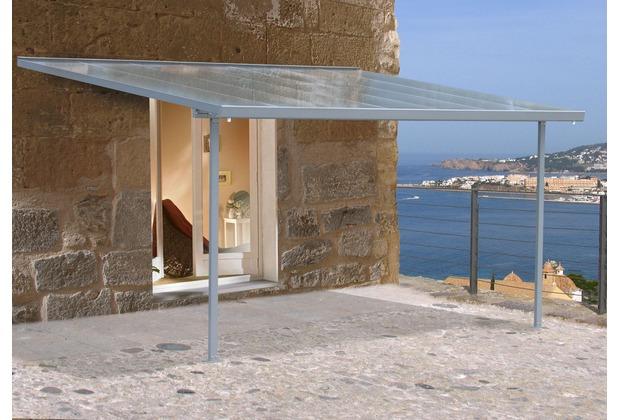 grasekamp terrassendach carport hardtop grau 305x300cm grau. Black Bedroom Furniture Sets. Home Design Ideas