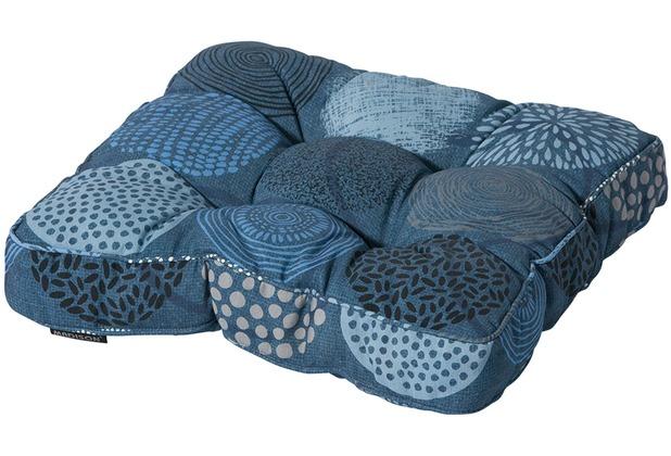 grasekamp universell sitzkissen 47x47cm bunt blau blau. Black Bedroom Furniture Sets. Home Design Ideas