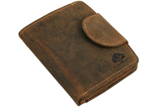 99da550662a7d Greenburry Vintage Geldbörse II Leder 10 cm sattelbraun
