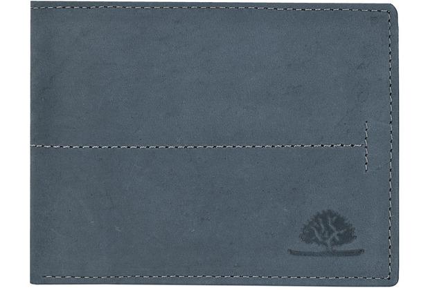 887cb87244c77 Greenburry Vintage Geldbörse Querformat Leder 12 cm mit Klappfach hunter  blue