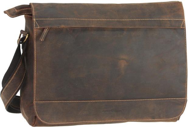 Greenburry Vintage Messenger Umh/ängetasche Leder 33 cm