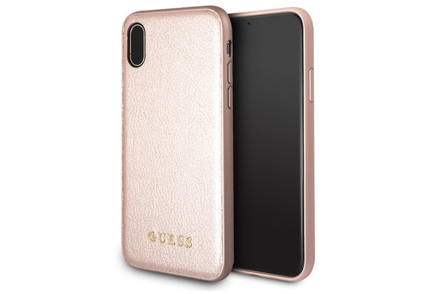 Guess Iridescent Hardcover Apple iPhone XS Max Rose Gold