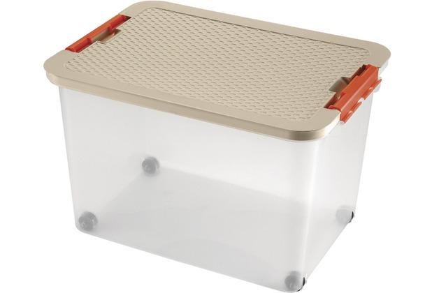 Kartoffel Aufbewahrungsbox heidrun rollerbox 52 x 37 x 34 cm deckel in rattan optik hertie de