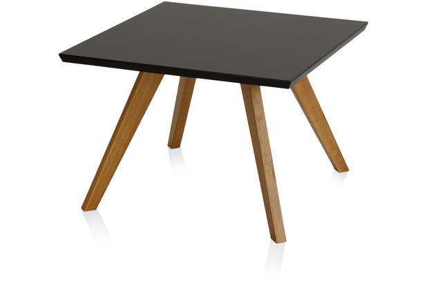 Henke Möbel Couchtisch Spitzfüße schwarz 65 x 65 cm