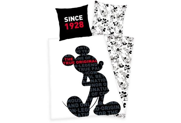 Herding 90 Jahre Mickey Mouse Bettwäsche 8080135200 Cm Hertiede