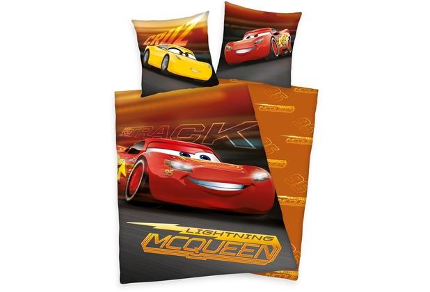 Herding Disneys Cars 3 Renforcé Bettwäsche 135x200 Cm Orange