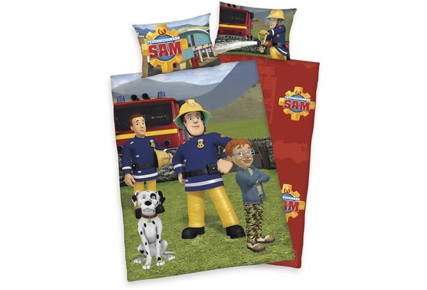 Herding Feuerwehrmann Sam Bettwäsche Mit Rv Zipper 40x60100x135