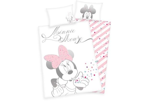 Herding Minnie Mouse Renforcé Bettwäsche 100x135 Cm Hertiede
