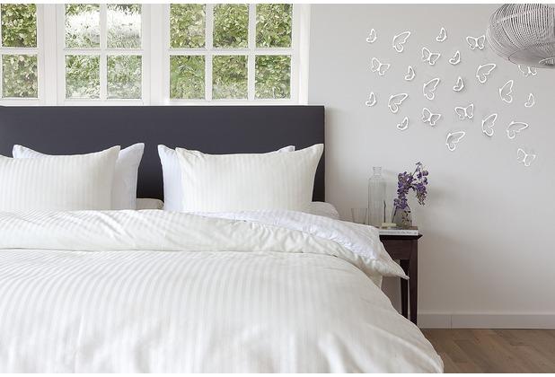 hnl mako satin bettw sche refined satinstreife offwhite. Black Bedroom Furniture Sets. Home Design Ideas