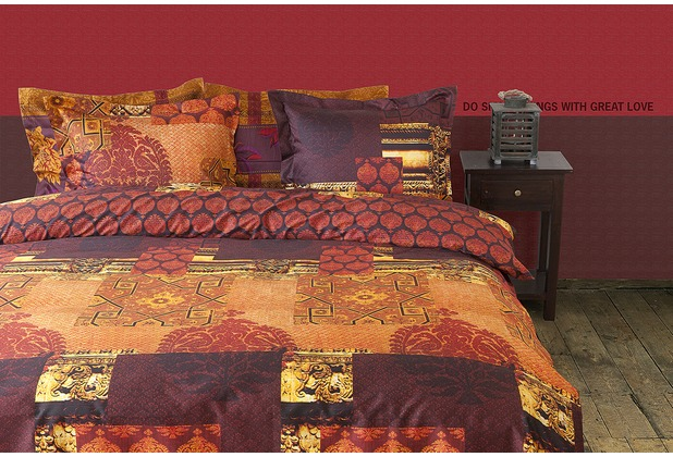 bettw sche mako satin rot home image ideen. Black Bedroom Furniture Sets. Home Design Ideas