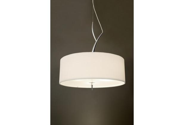 holl nder pendelleuchte 3 flg lesina metall verchromt glas satiniert stoffschirm wei. Black Bedroom Furniture Sets. Home Design Ideas
