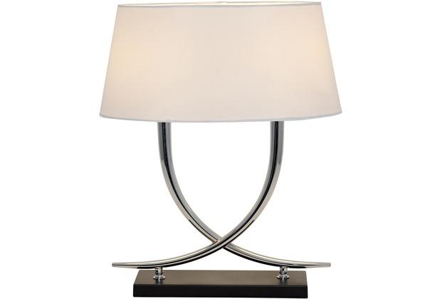 holl nder tischleuchte 2 flg montone metall silber verchromt metallfu schwarz schirm oval. Black Bedroom Furniture Sets. Home Design Ideas