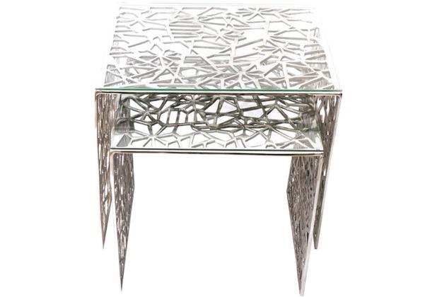 Holl nder tischset lucido aluminium poliert glasplatte for Schuhschrank aluminium