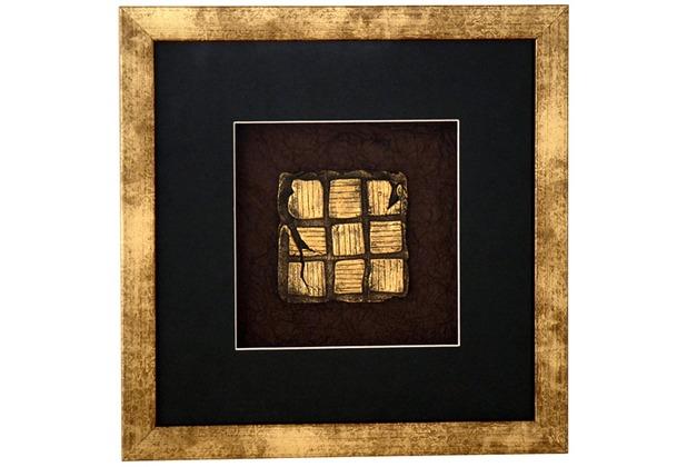 holl nder wandbild micado 1 holz glas kunststein gold schwarz. Black Bedroom Furniture Sets. Home Design Ideas