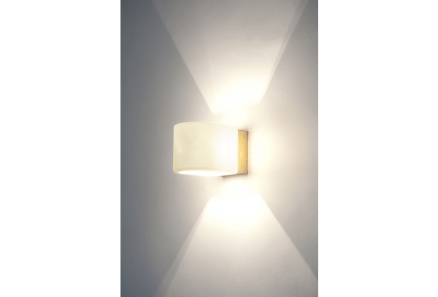 holl nder wandleuchte 1 flg punto eisen gold glas wei. Black Bedroom Furniture Sets. Home Design Ideas