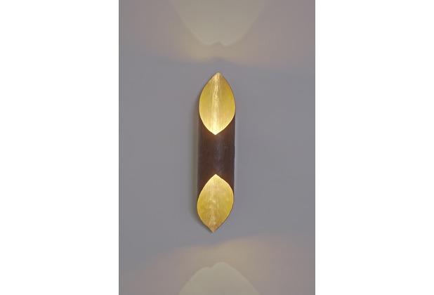 holl nder wandleuchte 2 flg organo eisen braun gold. Black Bedroom Furniture Sets. Home Design Ideas