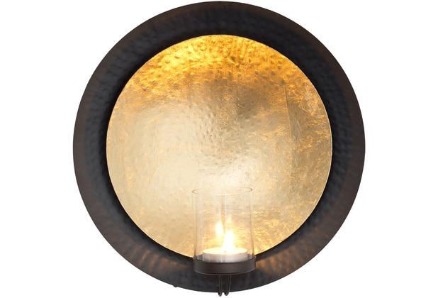 holl nder wandwindlicht deserto metall gold schwarz glas. Black Bedroom Furniture Sets. Home Design Ideas