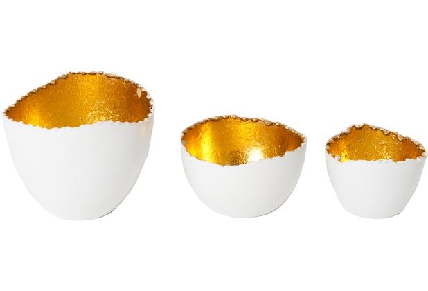 Windlicht Weiß Metall : holl nder windlicht set 3 tlg venato metall wei innen gold ~ Markanthonyermac.com Haus und Dekorationen