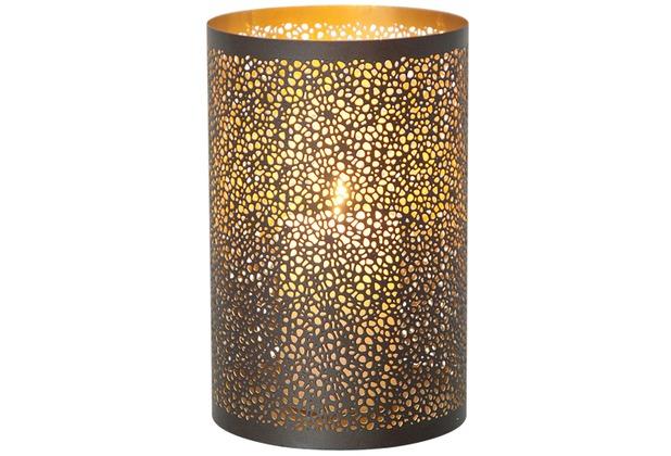 holl nder windlicht 1 flg punti gross metall au en kupfer braun innen gold. Black Bedroom Furniture Sets. Home Design Ideas