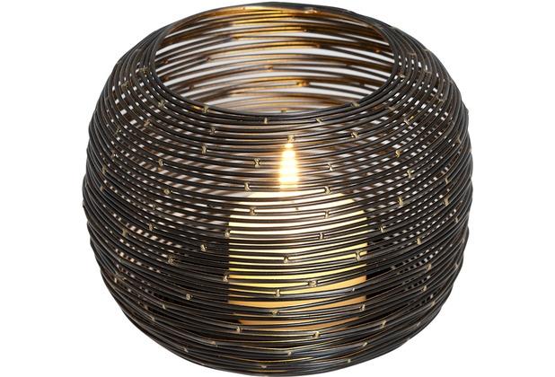 holl nder windlicht albero klein metall schwarz. Black Bedroom Furniture Sets. Home Design Ideas