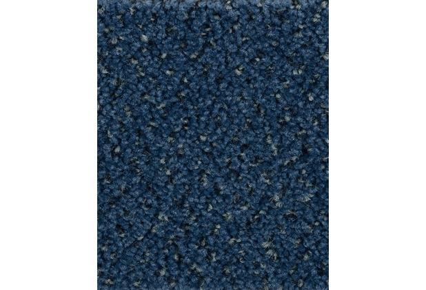 Neu Hometrend Teppichboden Meterware Velours gemustert Dunkelblau  MY83