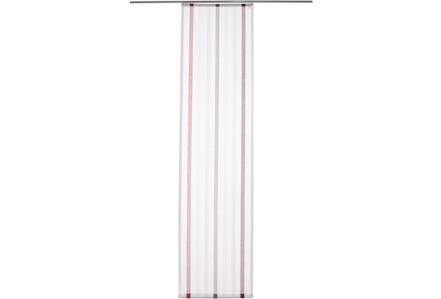 homing fl chenvorhang salinas rot grau 60 x 245 cm inklusive technik. Black Bedroom Furniture Sets. Home Design Ideas