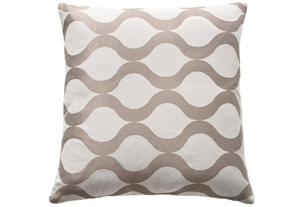 homing kissenh lle mit rei verschluss comb beige braun 45 x 45 cm. Black Bedroom Furniture Sets. Home Design Ideas