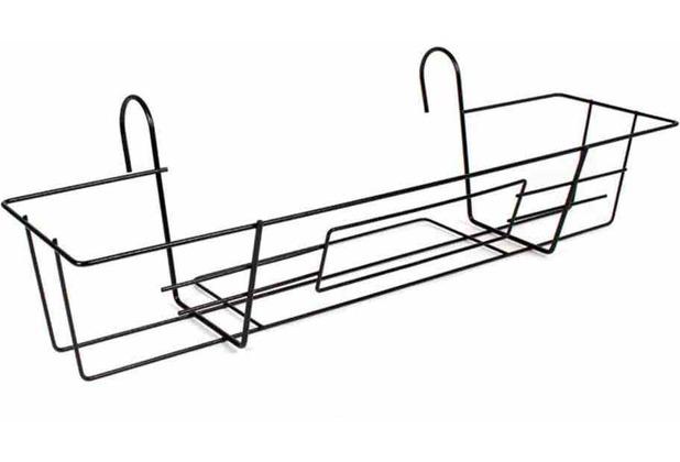 jardifer metall balkonkastenhalter 65x22 schwarz. Black Bedroom Furniture Sets. Home Design Ideas