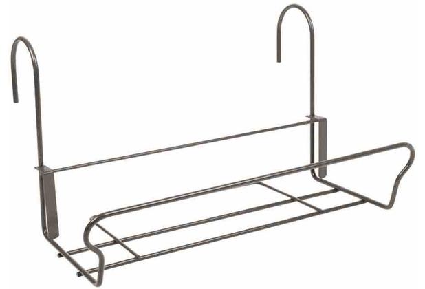 jardifer universal balkonkasten halter mit sicherheitshaken 41 5x22cm grau. Black Bedroom Furniture Sets. Home Design Ideas