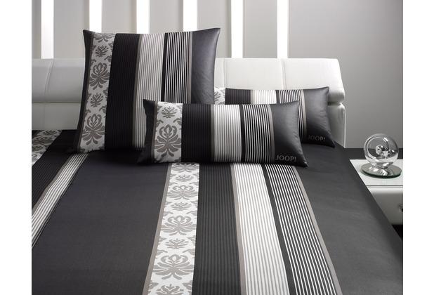 joop mako satin bettw sche ornament stripe schwarz. Black Bedroom Furniture Sets. Home Design Ideas