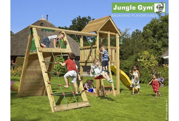 Klettergerüst Rutsche : Jungle gym spielturm club klettergerüst mit langer wavy star rutsche