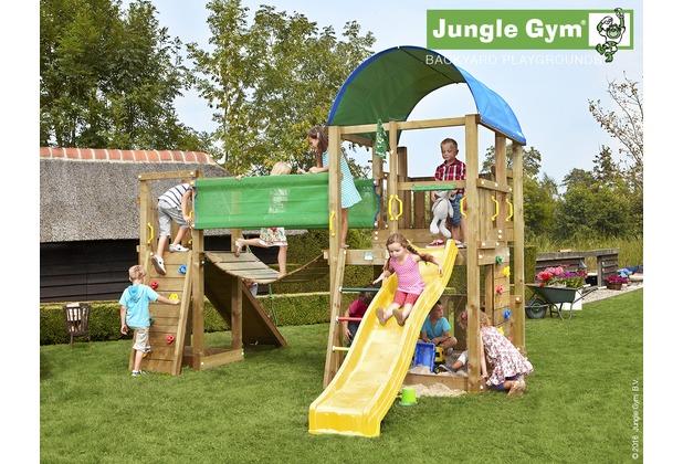 Klettergerüst Jungle Gym : Jungle gym spielturm farm hängebrücke mit kurzer wavy star rutsche