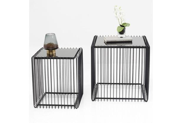 Kare Design Beistelltisch Wire Square Schwarz 2set Hertiede